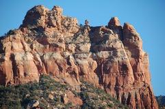 Formação da montanha do arenito vermelho, no Arizona no U S Sudoeste com a cara completa do penhasco imagens de stock royalty free