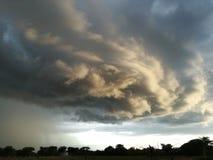 Formação da nuvem fotografia de stock
