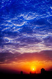 Formação da nuvem Foto de Stock