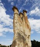 formação da pedra calcária de três chaminés, Cappodocia Fotografia de Stock Royalty Free