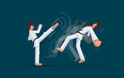 Formação das artes marciais Fotos de Stock Royalty Free