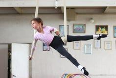 Formação das ginastas do ar fotos de stock royalty free