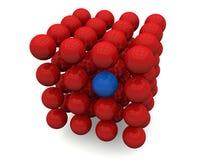 Formação de átomos ilustração stock