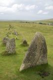 Formação de pedra antiga em Dartmoor Fotos de Stock Royalty Free