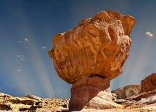 Formação de pedra original no parque geological de Timna, Israel fotografia de stock royalty free