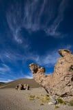 Formação de rocha com forma de um camelo com céu azul, Bolívia Fotos de Stock