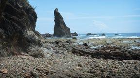 Formação de rocha da angra de Dicasalarin Fotos de Stock