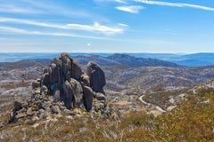 A formação de rocha da catedral, Mt Parque nacional do búfalo, Austral Foto de Stock