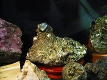 Formação de rocha da pirite fotos de stock