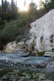 Formação de rocha de Fosso Bianco em Toscânia fotografia de stock royalty free