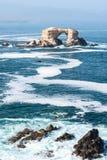 Formação de rocha de Portada, Antofagasta, o Chile imagens de stock