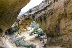 Formação de rocha do arco do luar em Vernal, Utá Imagens de Stock Royalty Free