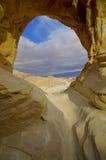 A formação de rocha dos arcos no parque de Timna no negev do sul de Imagem de Stock