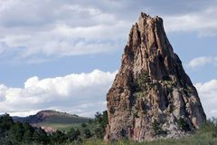Formação de rocha elevada no jardim do parque de estado dos deuses (Colorado). imagem de stock royalty free