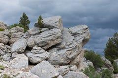 Formação de rocha horizontal Fotografia de Stock Royalty Free