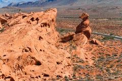 Formação de rocha no deserto de Nevada sul Fotos de Stock