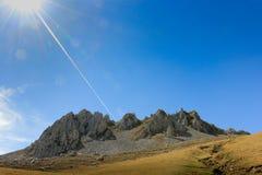 Formação de rocha no Picos De Europa por Fuente De Espanha com Cl Foto de Stock Royalty Free