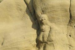 Formação de rocha perto do complexo monástico de David Gareja fotografia de stock