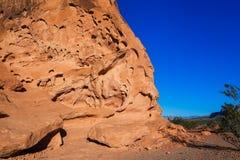 Formação de rocha vermelha e céu azul Fotos de Stock Royalty Free