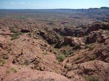 Formação de rocha vermelha em serra de las quijadas em Argentina Imagem de Stock