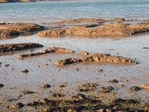 Formação de rochas na costa. Fotografia de Stock