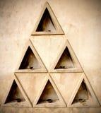 Formação de triângulos Fotos de Stock Royalty Free