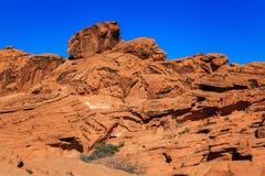 Formação do arenito vermelho Nevada do sul fotos de stock