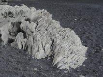 Formação do basalto na praia da lava Fotos de Stock Royalty Free