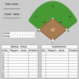 Formação do basebol Ilustração Stock