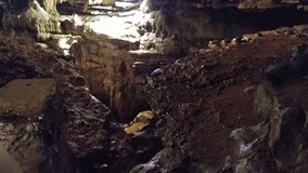 Forma??o do estalagmite e da estalactite da caverna imagens de stock