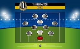 Formação do fósforo do futebol ou de futebol infographic Foto de Stock
