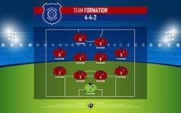 Formação do fósforo do futebol ou de futebol infographic Fotografia de Stock