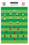 Formação do futebol Fotos de Stock Royalty Free