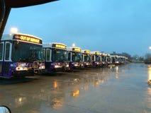 Formação do ônibus Fotografia de Stock Royalty Free