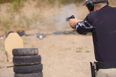 Formação do tiro e das armas Foto de Stock Royalty Free