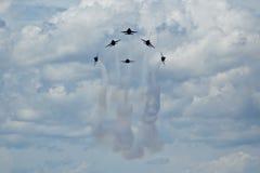 Formação dos anjos azuis Fotos de Stock Royalty Free