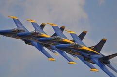 Formação dos anjos azuis fotografia de stock
