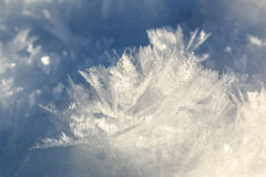 Formação dos cristais de gelo fotos de stock royalty free