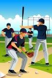 Formação dos jogadores de beisebol Foto de Stock Royalty Free