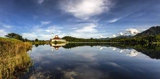 Formação e reflexões da nuvem Fotos de Stock Royalty Free