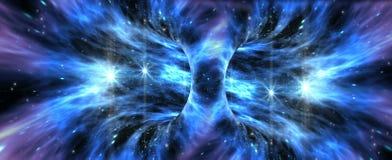 Formação exótica do wormhole Fotografia de Stock