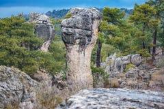 Formação irreal Karstic em Cuenca Fotos de Stock