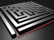 Formação para desafiar o labirinto Fotos de Stock Royalty Free