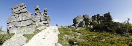 Formação rochosa de Trzy Swinki Imagem de Stock