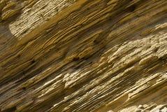 Formação Striated do sandstone fotografia de stock
