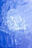Formação suíça azul profunda dos sincelos das montanhas Foto de Stock