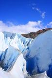 Formações de gelo da geleira foto de stock