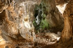 Formações de pedra das cavernas de Carlsbad foto de stock