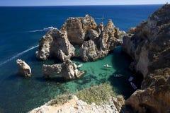 Formações de pedra em torno de Cabo de Roca Fotos de Stock Royalty Free