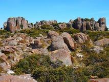 Formações de rocha da tubulação de órgão, montagem Wellington Imagens de Stock Royalty Free